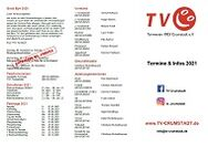 TV Crumstadt Flyer 'Termine 2021'